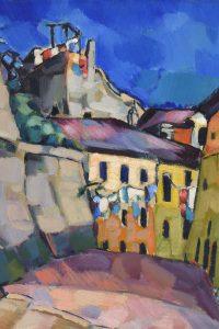 Konrad Mägi, Paesaggio di Capri, 1922-1923, olio su tela (courtesy of Collezione Kunila / Museo Novecento Firenze)