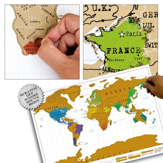Scratch Map Melbourne