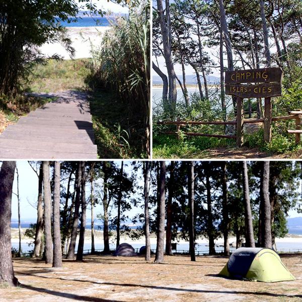 Il camping e l'accesso alla spiaggia