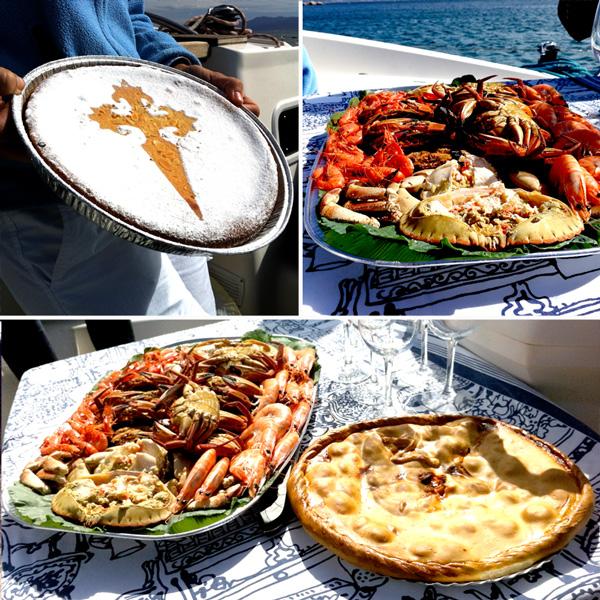 Il pranzo a base di prodotti tipici offerto a chi effettua la traversata con Sailway
