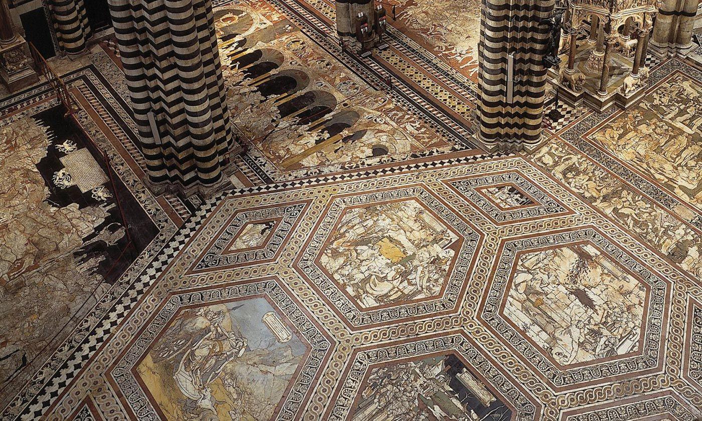 Il pavimento del Duomo di Siena