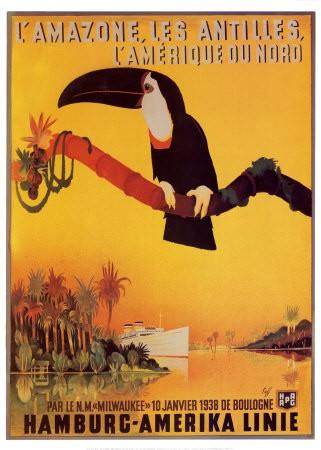 Poster L'Amazone, les Antilles, Peter Fussey