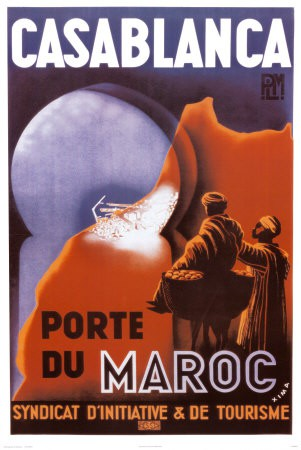 Poster Casablanca, anonimo
