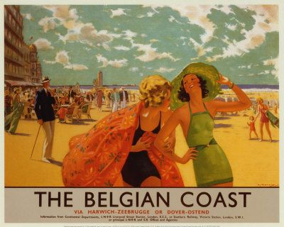 Poster Belgian Coast, Eric Michaels