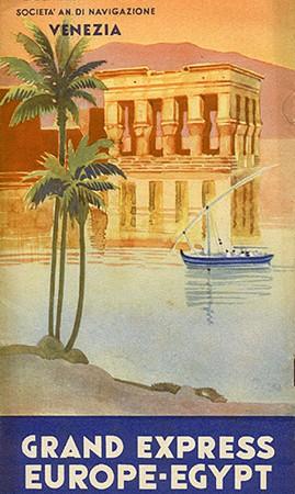Adriatica - Grand Express Europe-Egypt, Agosto 1937. (Collezione David Levine)