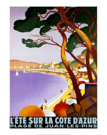 Poster Eté sur la cote d'azur, Roger Broders