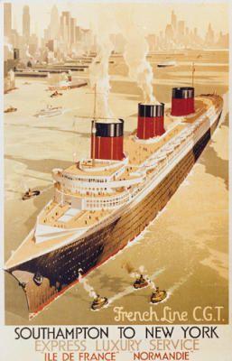 Poster Southampton to New York, anonimo