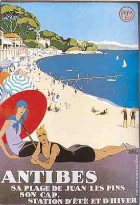 Poster Antibes, Roger Broders