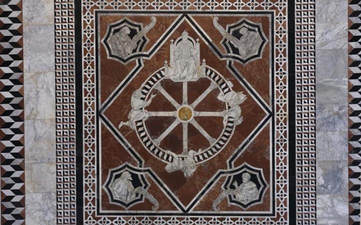 Pavimento del Duomo di Siena, particolare