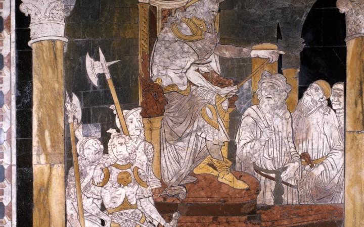 Pavimento del Duomo di Siena, particolare (la Strage degli Innocenti)
