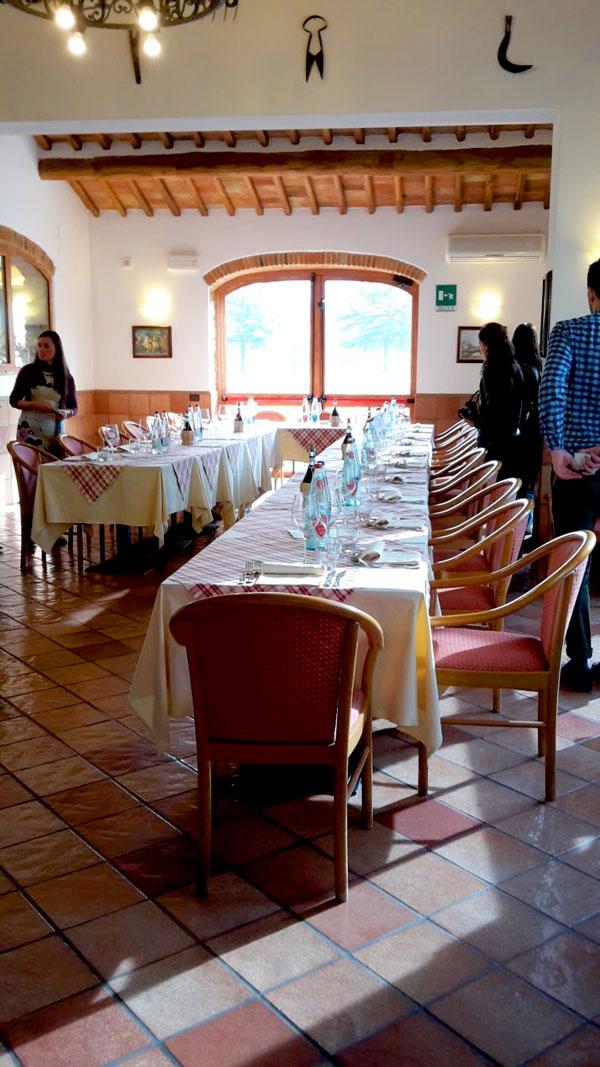 Osteria de' Rufinanti, la sala