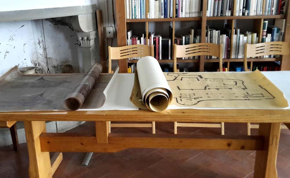 Lo studio di Michelucci all'interno di Villa il Roseto